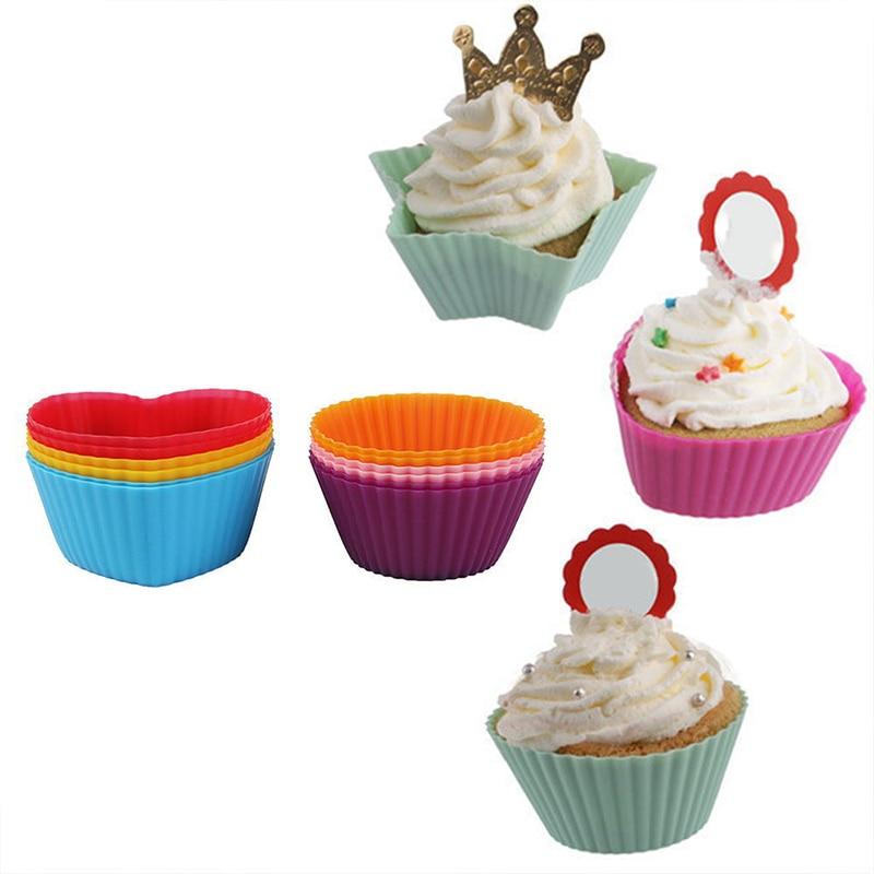 ¡Novedad! Moldes de silicona para cupcakes de 24 uds, herramienta pastelillos para hornear, pastel reutilizable, antiadherente, utensilios para hornear, MK
