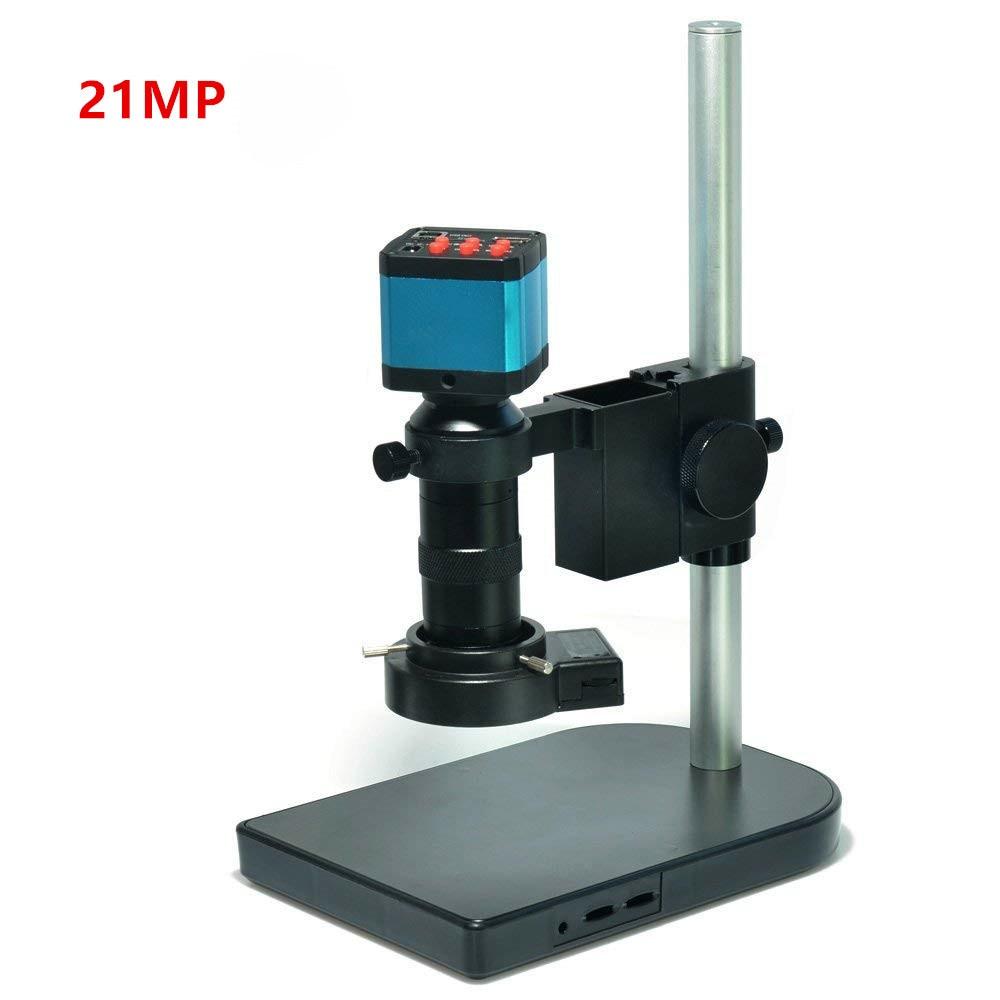 21MP 1080P 60FPS 2K HDMI USB industrial microscope camera 100X C-mount lens digital microscope electronic soldering microscope