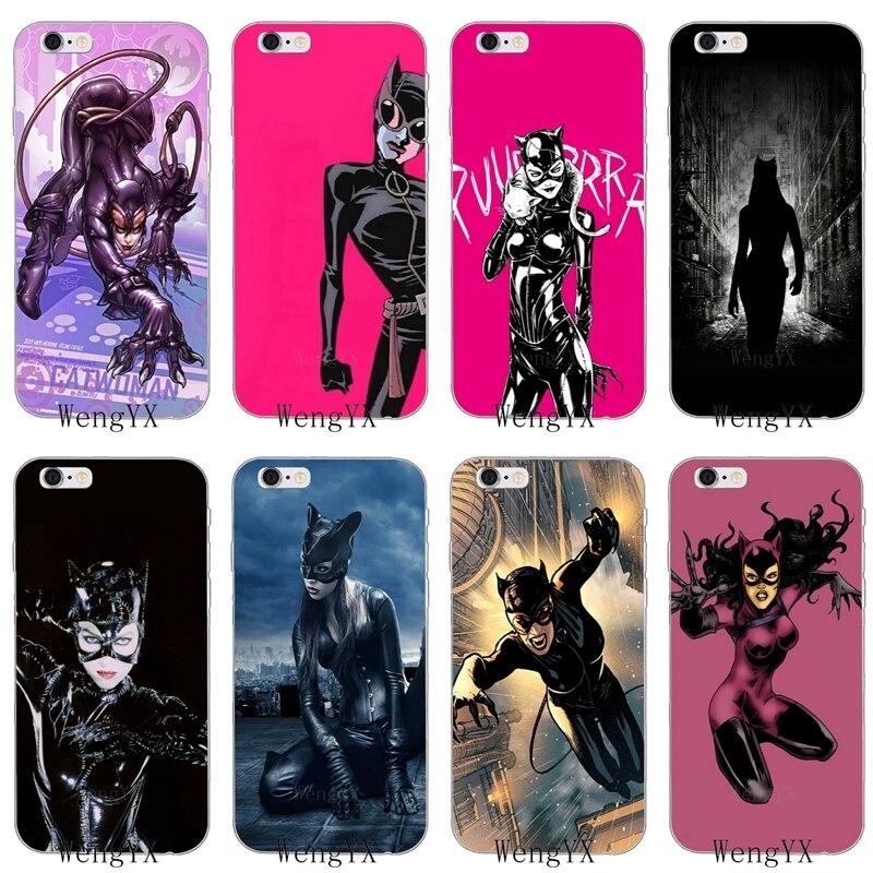 DC Quadrinhos Catwoman Batman Soft case tpu Para Samsung Galaxy A10 A30 A40 A50 A60 A70 A5 A6 A7 A8 A9 J8 J4 J6 principal acrescido de 2018