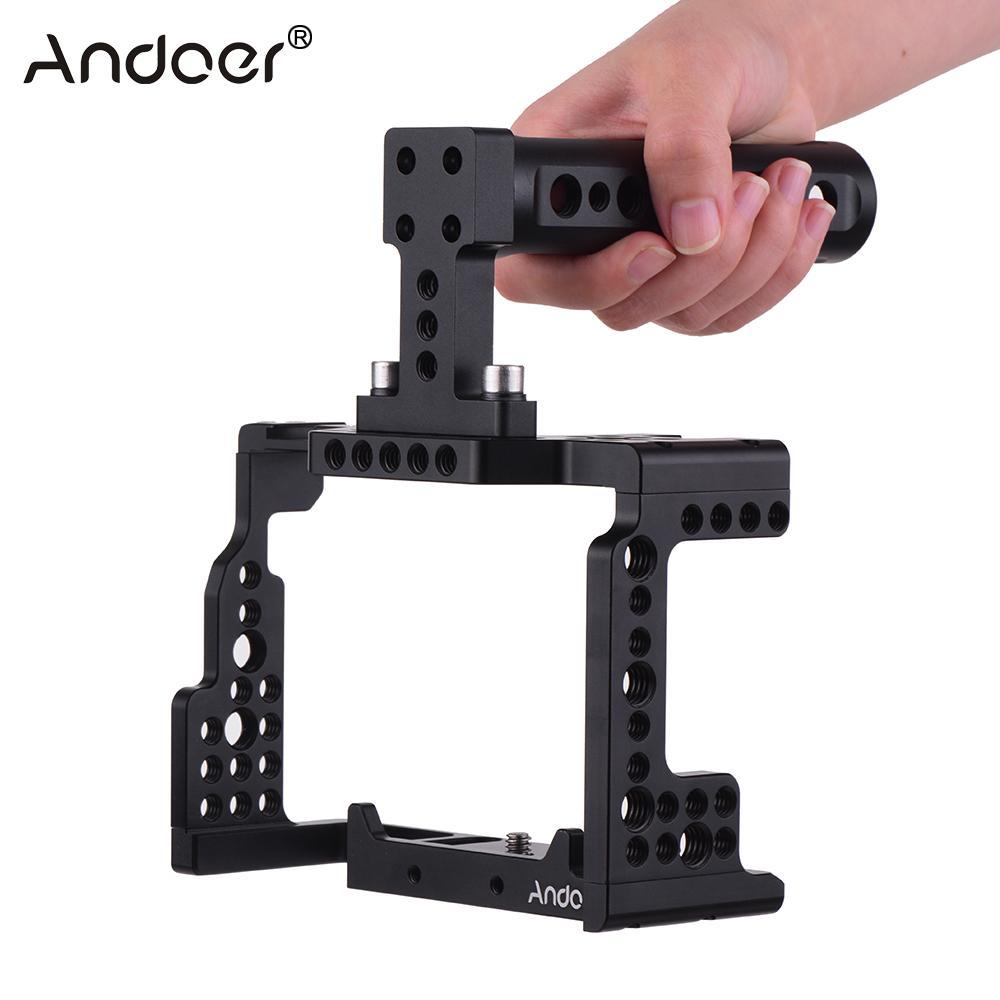 Andoer-قفص كاميرا بمقبض علوي ، قفص مثبت لكاميرا Sony A7II/A7III/A7SII/A7M3/A7RII/A7RIII