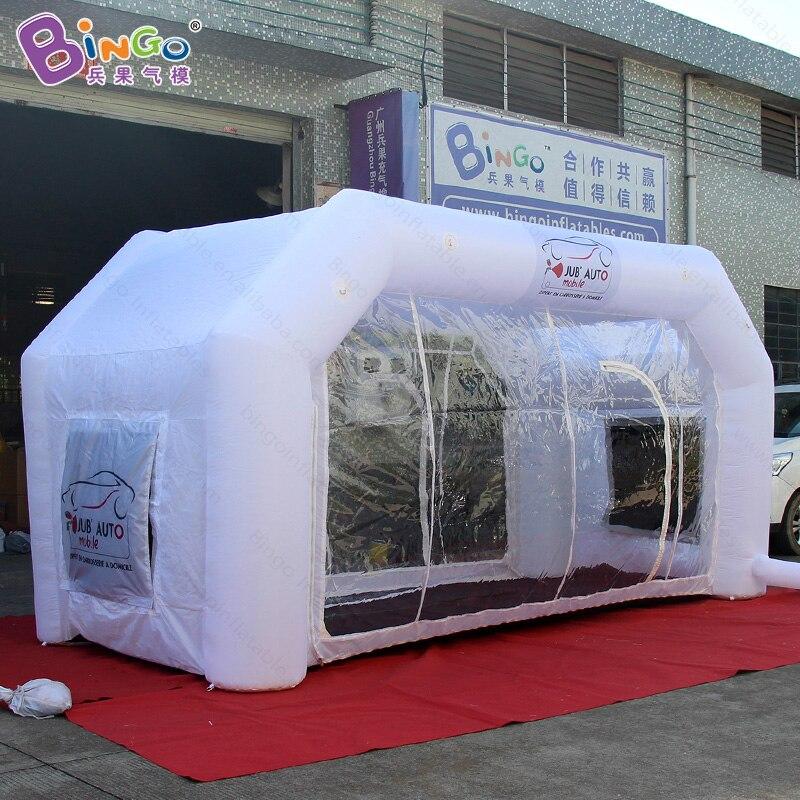 تخصيص اللون الأبيض 5X2.4X2.5 متر نفخ الطلاء غرفة رائجة البيع الهواء في مهب الطلاء خلط غرفة لعبة الخيام