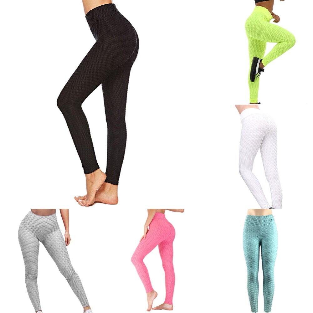 S-XXL pantalones de Yoga 6 colores mujeres Sexy Anti-celulitis compresión Leggings Slim Fit Butt Lift elástico transpirable pantalones de Yoga