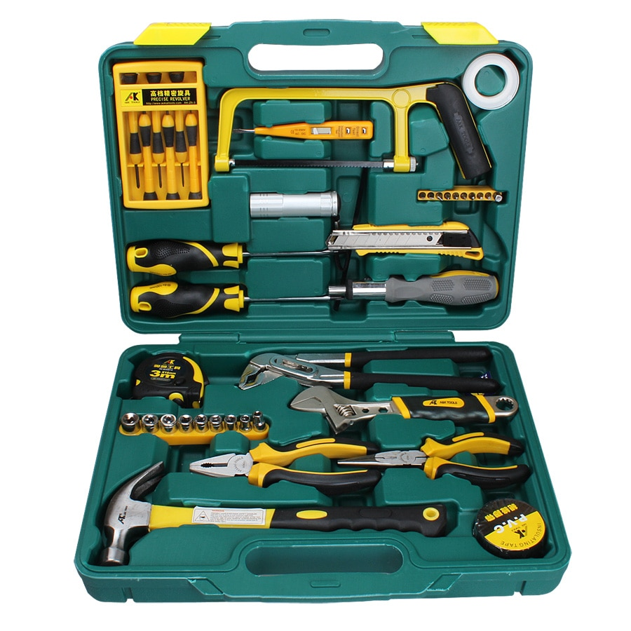 Pieces of Hardware Tools Set Crazy Tool Kit Home Hardware Home Electrician Tool Set Electrical AK-T041 enlarge