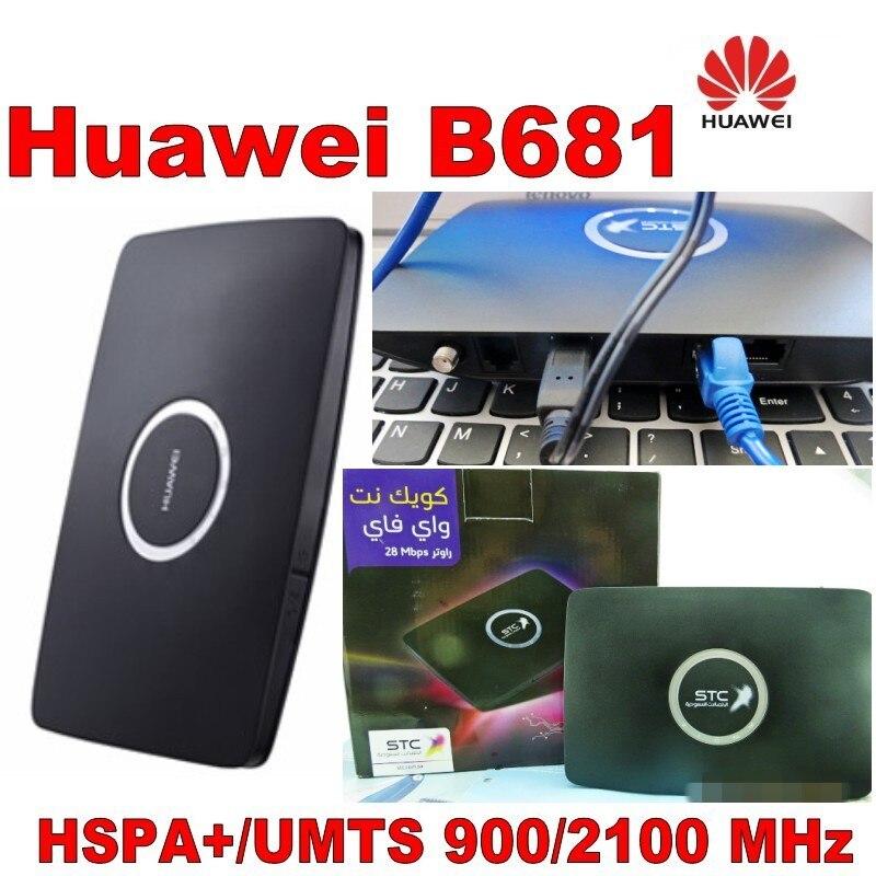 Lote de 10 piezas desbloqueado Huawei B681 28 Mbps Wireless Router WPS casa Gateway 3G UMTS HSPA + WCDMA ranura para tarjeta SIM Wifi PK B660 B683