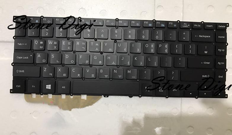 Envío Gratis nuevo teclado de ordenador portátil para Samsung NP900X3L 900X3L teclado de EE. UU. con retroiluminación