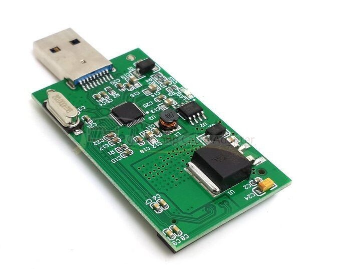 Mini PCI-E SSD mSATA para USB 3,0 Externo Adaptador convertidor PCBA; sem...