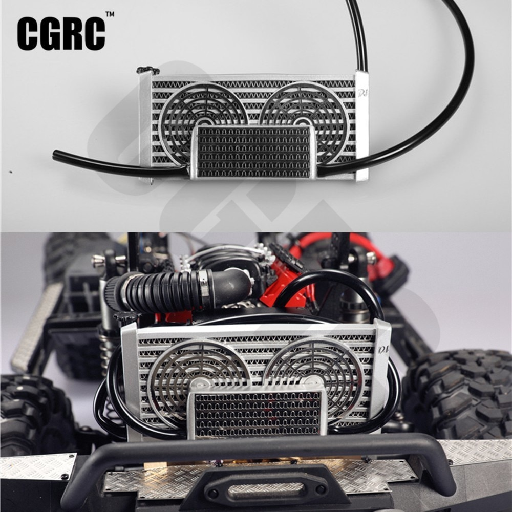 Rc Car Simulation Cooling Water Tank For 1/10 RC Crawler Car TRX4 Bronco D90 D110 Scx10 90046 JIMNY Blazer Vs4-10 Decoration