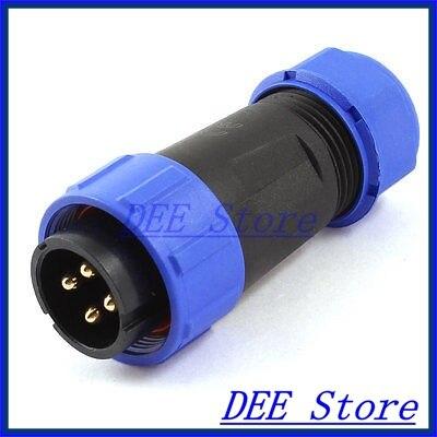 AC 500 V 30A 4 P 4 pines macho impermeable IP68 glándula de Cable conector de aviación