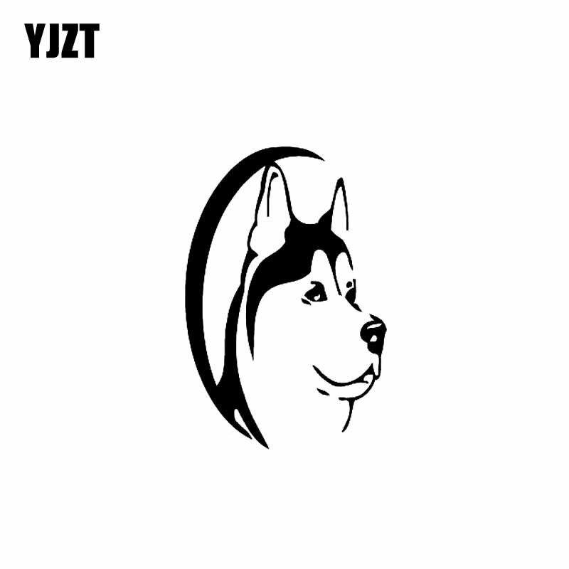 YJZT 9,4 CM * 14CM Husky perro Animal coche pegatina de vinilo...