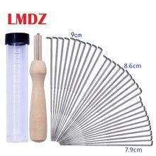 LMDZ 30 шт. Комплекты Игл для валяния шерсти товары для поделок набор игл для валяния с 10 иглами для валяния с прозрачной бутылкой