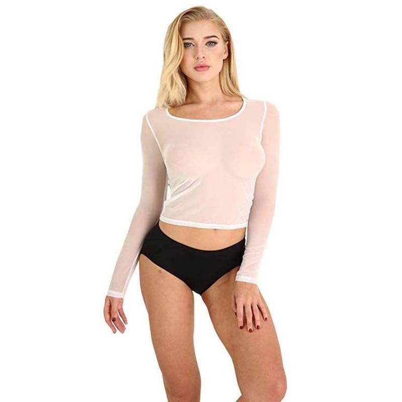 Sexy clube transparente malha menina energia t-camisa o-pescoço moda meninas pode fazer qualquer coisa instagram roupas hipster gótico verão feminino