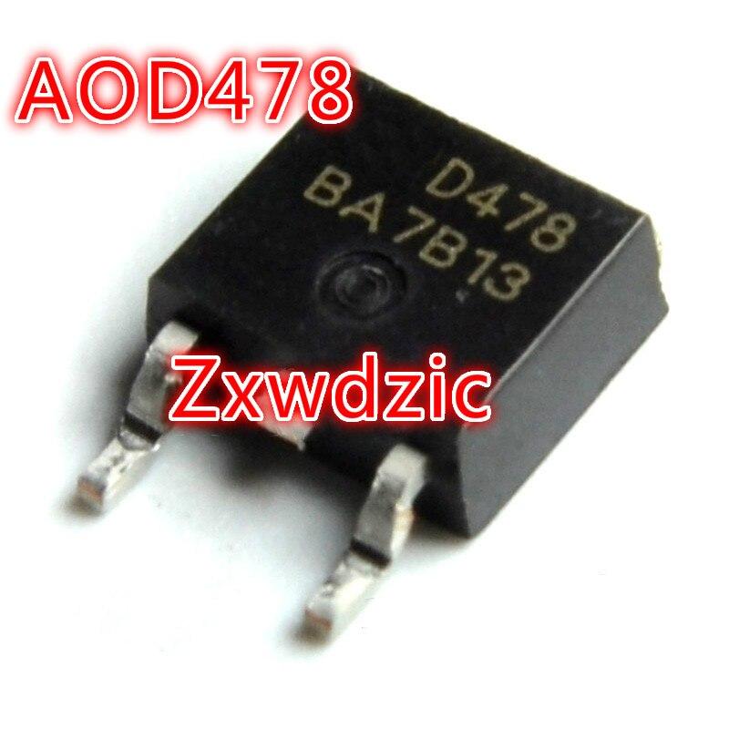 10 pces aod478 d478 para-252 smd novo