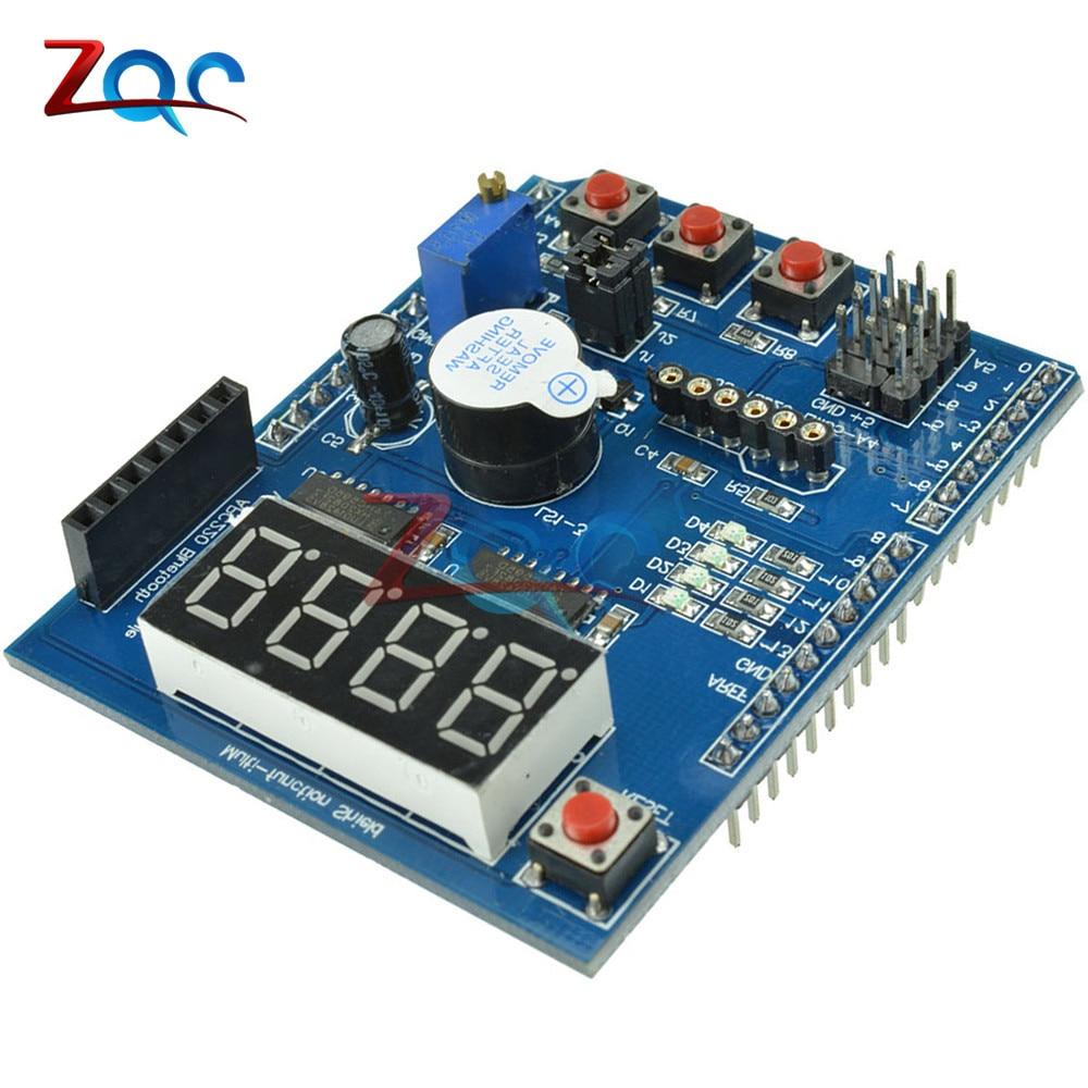 Escudo multifunción con zumbador LM35 Módulo de Voz Digital LED de 4 dígitos para Arduino UNO R3 Lenardo Mega2560
