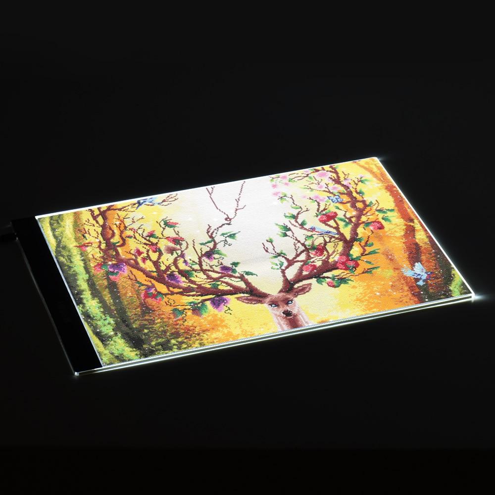 Aibecy, portátil, A3, panel de luz LED, trazador de dibujo, copia, tablero de mesa, tablero de impresión, para pintura de diamante, tatuaje, dibujo