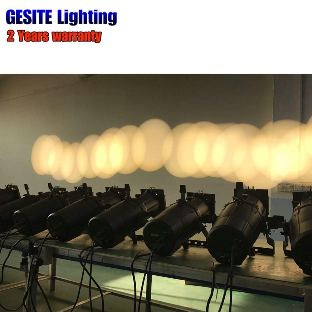 150 w, punto blanco, luz elipsoidal, etapa gobo, proyector led, perfil de color, punto de luz