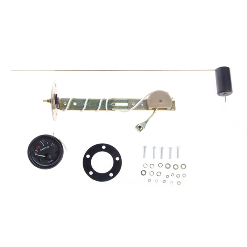 Medidor de 52mm con Sensor de combustible E-1/puntero 2-F indicador Universal de nivel de combustible para coche 12V nuevo