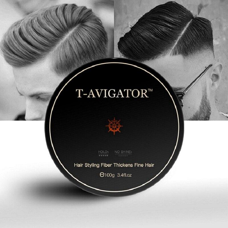 Cera de cabello fresca para hombres, salón de uso profesional, súper fuerte, cabello orgánico, sin Alcohol, fácil de empujar y enjuagar, cera para el cabello 100g