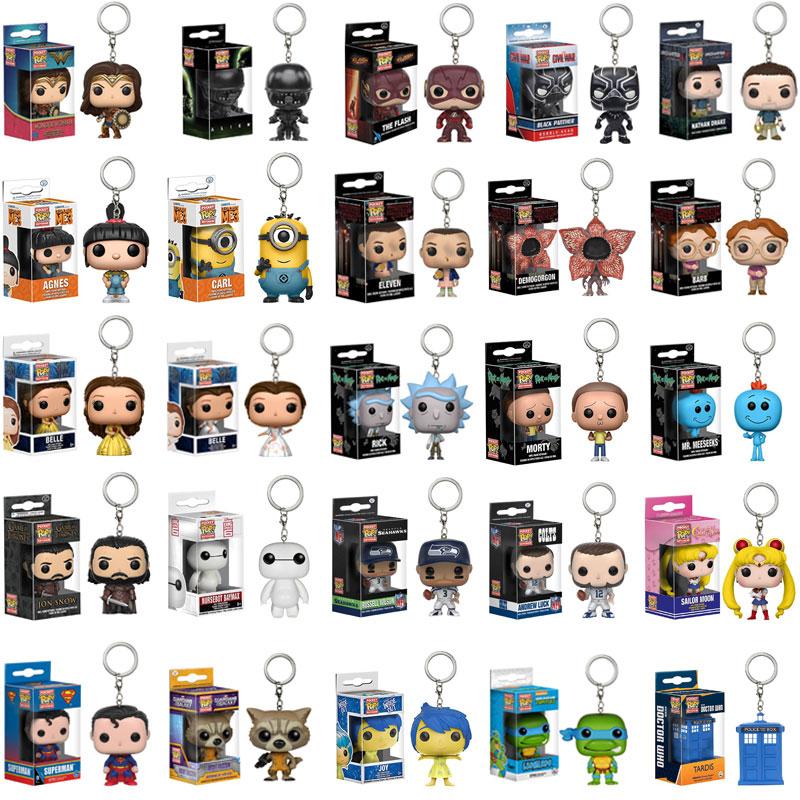FUNKO POP Marvel poche porte-clés araignée chevaleresque états-unis capitaine assistant Harley Quinn Game of Thrones figure jouets avec boîte