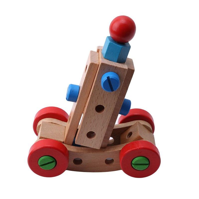 Деревянные развивающие игрушки гайка и винт сборка разборка Сменные гайки