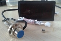 FREE SHIPPING Sensor RC41B digital speedometer/tachometer with Hall sensor magnet