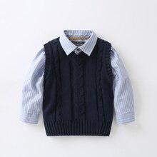 ملابس أطفال جديدة لربيع وخريف عام 2014 سترة أطفال من topolino سترة أطفال بدون أكمام محاكة صدرية للأطفال الأولاد
