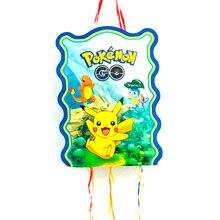 Pikachu dessin animé Pinata   Fournitures de fête amusantes, Pikachu en plastique jetables pour enfants, décoration pour fête danniversaire pour garçons 40x30cm