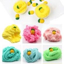 60ML fruits ananas moelleux Slime nuage Slime pâte à modeler arc-en-ciel Slime jouet pour enfants anti-stress Reliever Lizun Floame
