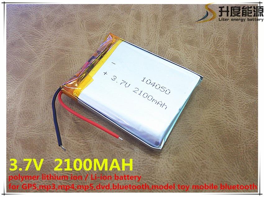 5 uds 3,7V batería de polímero de litio 104050 2100MAH tableta PC navegación móvil power GIY