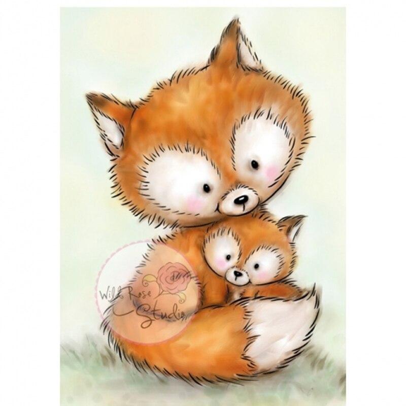 2019 animal/raposa transparente selos claros para diy scrapbooking/cartão que faz/crianças natal diversão decoração suprimentos