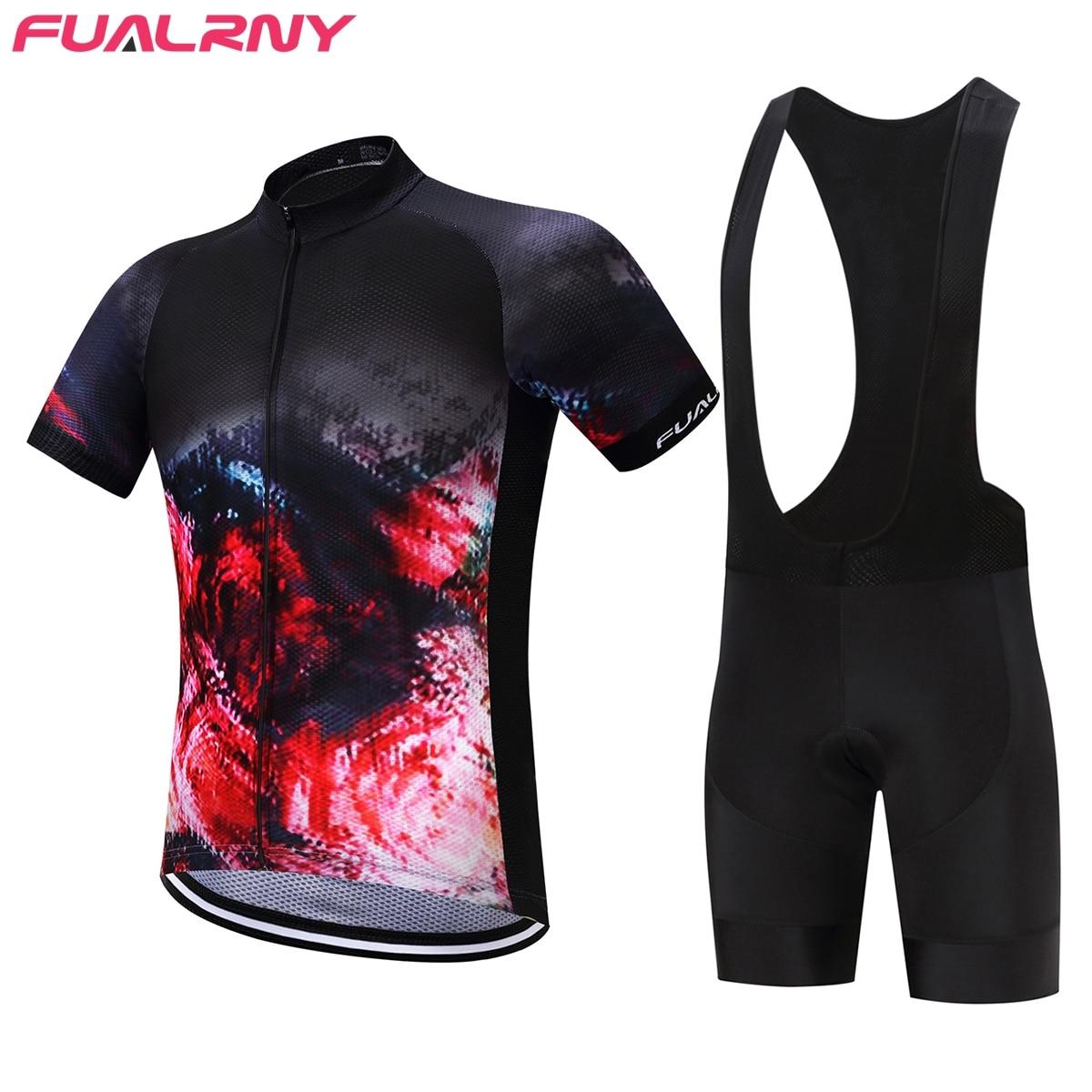 FUALRNY Calder Pro Maillot Rock Bicycle Wear MTB Cycling Clothing Ropa Ciclismo Bike uniform Cycle shirt Racing Cycling Jersey