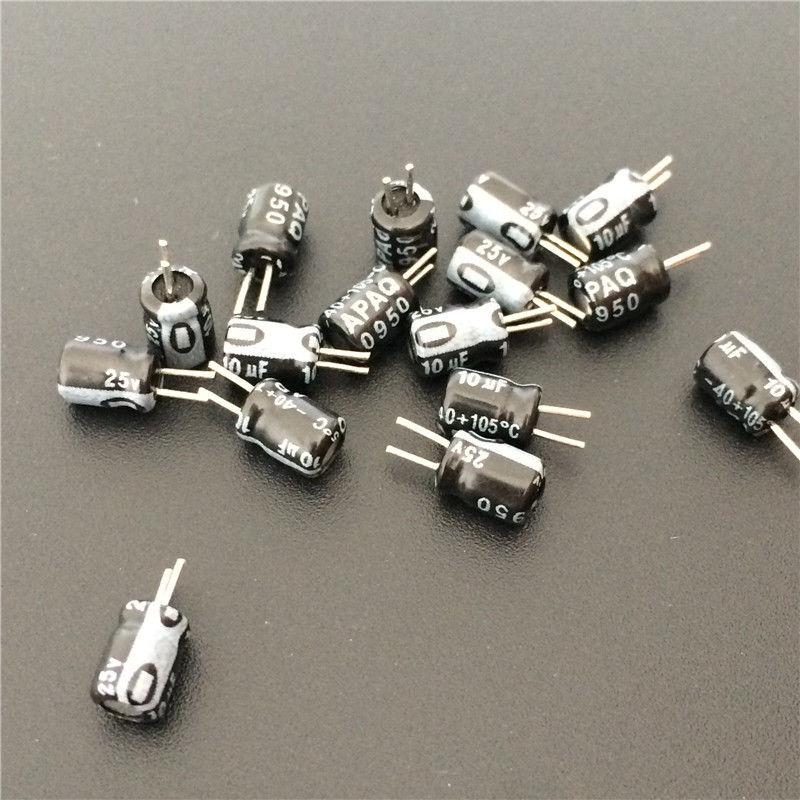 20 шт. 10 мкФ 25 в 4x5 мм APAQ 25V10uF алюминиевый электролитический конденсатор