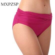 Sexy para mujer Bikini bañadores de baño corto de verano Brasileño descarado doblar cortado parte inferior de Tanga pantalones de playa de cintura baja bañadores XL