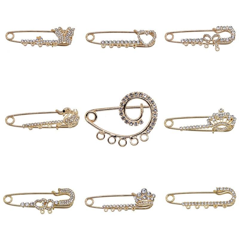 Clássico grande broche retro broche moda feminina inverno headscarf agulha e broche para fêmea animal agulha fina jóias moda