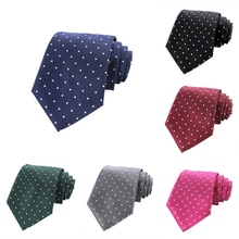JEMYGINS Original Mode Herren Krawatten seide Krawatte Dünne schwarz Hochzeit Krawatte Blau Krawatten Männer Polka Dot Krawatten für Männer Gravata 8cm