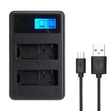 Nouveau NP-FW50 Rechargeable LED affichage Li-ion chargeur de batterie 2-Slot avec câble USB pour SONY Alpha A7 A7R A7S A5000 A6000 ect