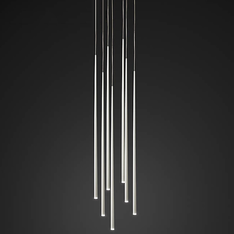 Art Salon Long Led Cone Light Suspension luminaria Pendant Light For Dining Room Led Strip Hanging Fixtures Picture Bar Lighting