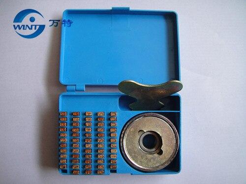 3*5*9 MM 105 unids/caja fecha código fuente número caliente sello codificador... caracteres para 900 máquina de sellado de cobre carácter cóncavo