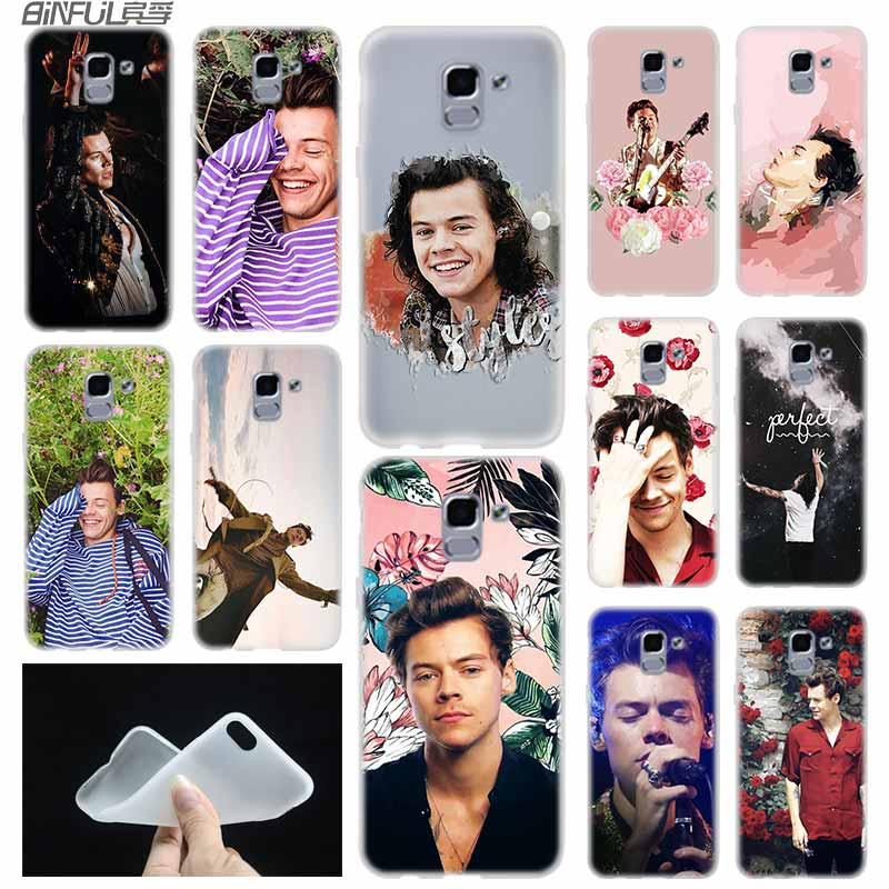 Telefon fall Soft Cover Coque Für Samsung Galaxy J6 J8 J3 J5 J7 J4 Plus 2018 2016 2017 EU Prime pro Ace Harry Styles One Direction
