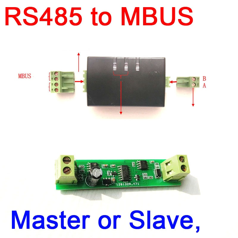 Módulo de módulo de comunicación DYKB RS485 a MBUS maestro esclavo para control inteligente medidor de agua