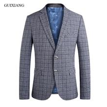 2019 nieuwe collectie lente stijl jas mannen boutique blazers hoogwaardige business casual grid pak heren leisure slim blazer