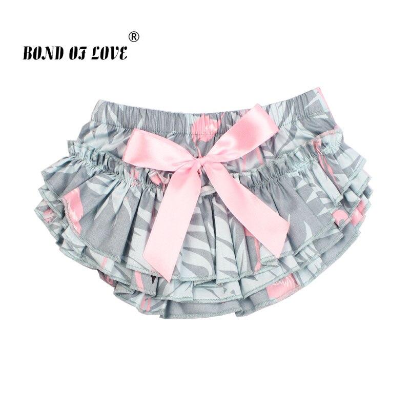 Newborn Baby Girls Tutu Skirt Cotton Bow Flamingo Print Baby Girls Skirt Baby Photography Props 0-24 Month Baby Girl clothes