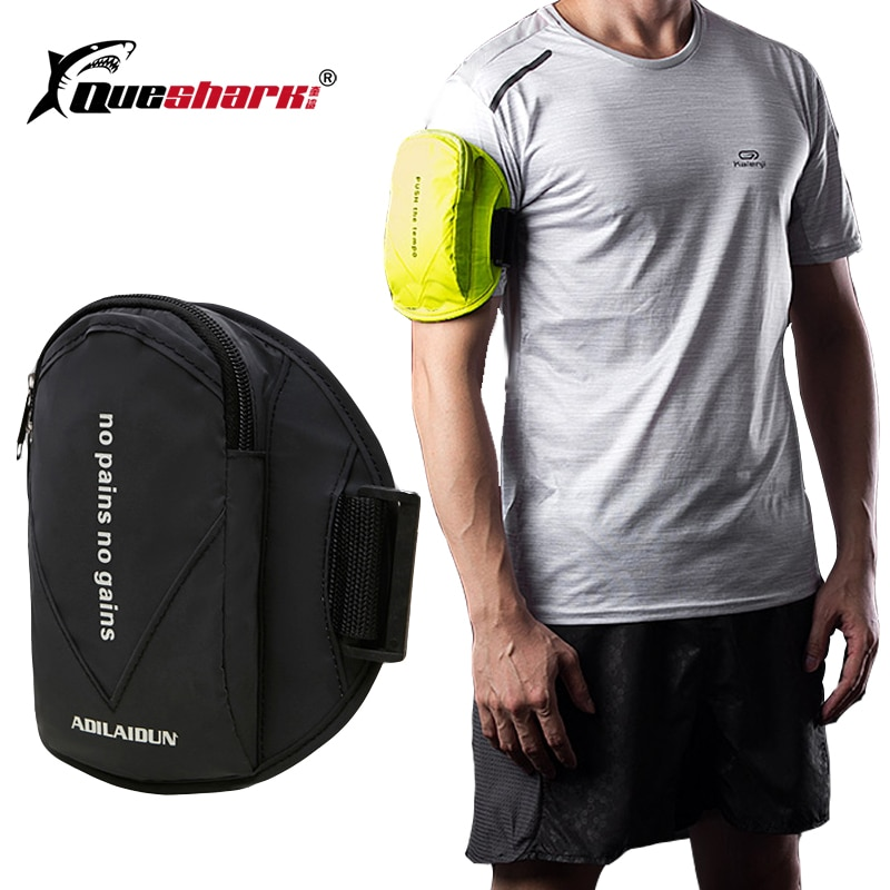 6 inch sports jogging gym armband running bag arm wrist band hand mobile phone case holder bag outdoor waterproof nylon hand bag Reflective Waterproof Sport Arm Bag Gym Fitness Running Bag Armband Pouch Mobile Phone Holder Outdoor Sport Arm Wrist Pouch Bag