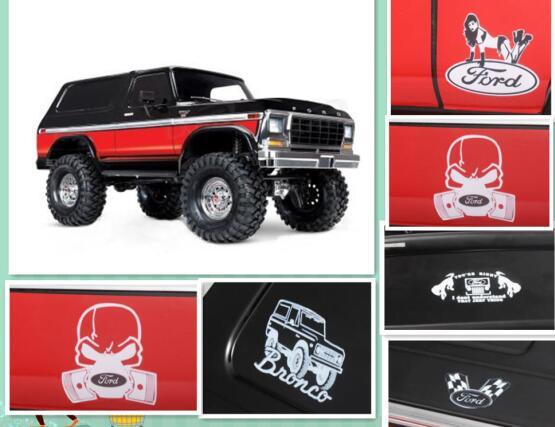 Hraxxas trx4 Ford Bronco Ranger pegatinas logotipos etiquetas (6) AXIAL SCX10 D90 D110 TAMIYA CC01 Hliux TOYOTA LC70 LC80 FJ40