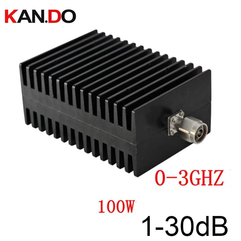 100W atenuador RF N macho a hembra N DC-3G 1-30DB atenuación RF COAXIAL jack atenuador comunicación atenuador