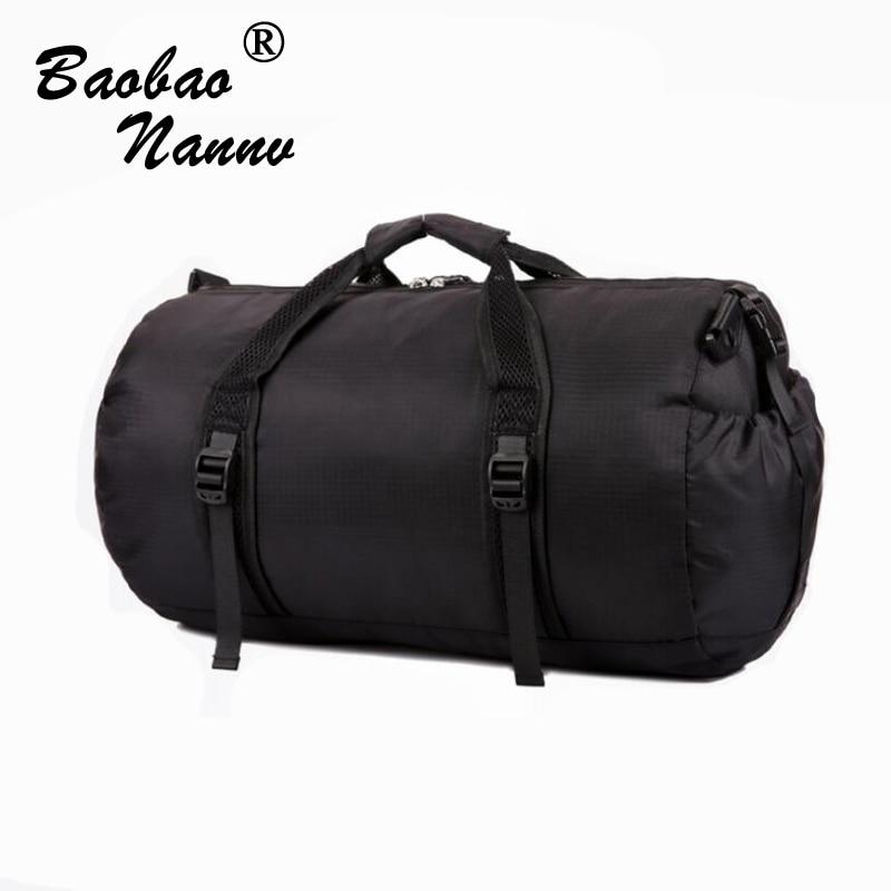 2019 bolsas de viaje impermeables bolsa de viaje púrpura azul negro gris Unisex viaje Duffle plegable versátil Cubo de viaje bolsas