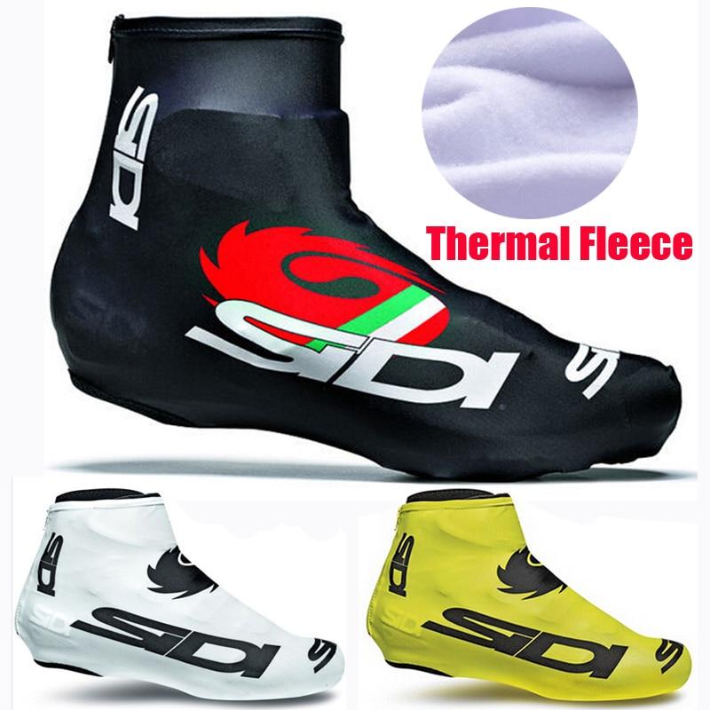 1 пара велосипедных чехлов для обуви, Флисовая теплая мужская и женская обувь, дорожный велосипед, MTB Зимняя велосипедная обувь