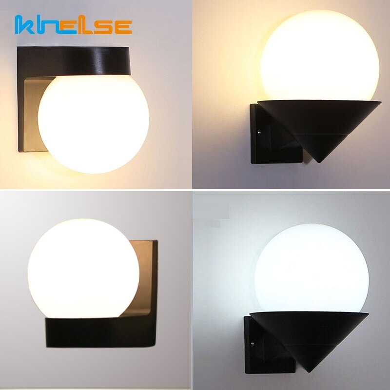 led outdoor waterproof aluminum acrylic wall lamp staircase aisle modern exterior wall lights garden balcony led wall lamp bl299 Modern Acrylic LED Wall Light Waterproof IP54 Outdoor Porch Wall Lamp Balcony Aisle Stairs Up Down Gate Wall Sconce AC90~260V
