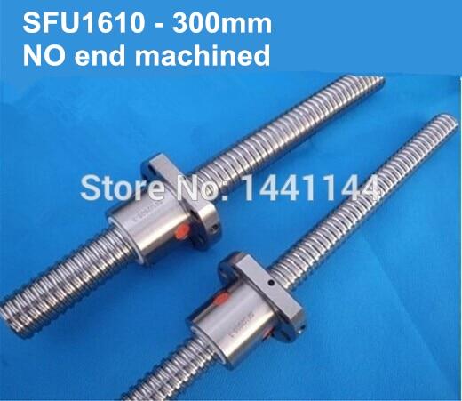 Envío gratis 1 tornillo de bola SFU1610 tornillos de bola de 300mm + 1 tuerca de bola 1610 sin piezas CNC mecanizadas