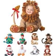 2020 Carnaval Halloween Outfits Baby Jongens Meisjes Kostuum Animal Cosplay Rompertjes Jumpsuit Peuters Baby Kleding