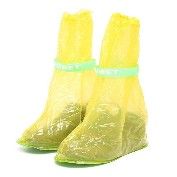 1 paar PVC Reusable Wasserdichte Schuhe Abdeckungen, Anti Slip Hohe Stiefel Schuh Abdeckung Regen Schnee Motorrad Bike Elektrische Roller
